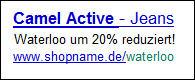 AdWords-Werbung für Online-Shop