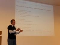 Moritz bei seinem Vortrag