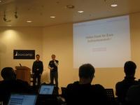 Moritz und ich am Ende des Vortrags