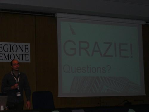 Giorgio Venturi bei seinem Vortrag zum Thema Remote Usabilitytests
