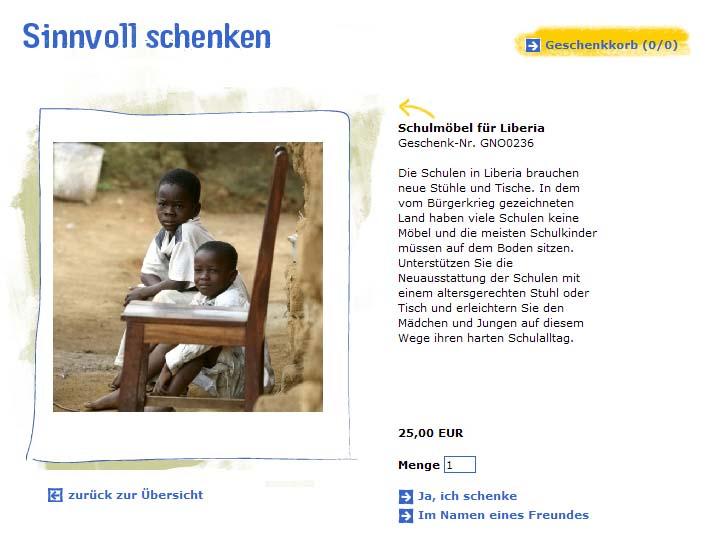 Details zu einem Spendenprojekt auf plan-deutschland.de