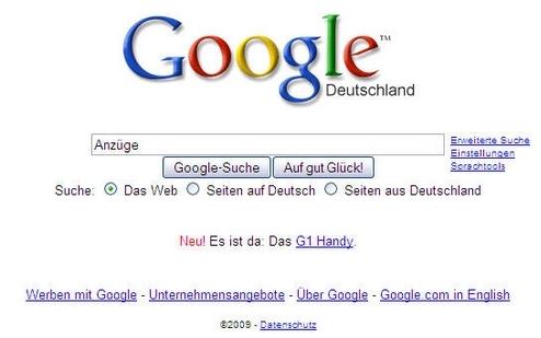 """Google """"Auf gut Glück!""""-Funktion"""