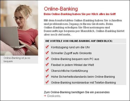 """""""So bequem"""": Die Sparkasse wirbt um neue Online-Kunden."""