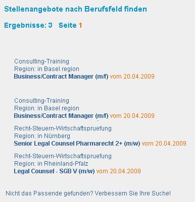 Trefferliste stellenmarkt.de