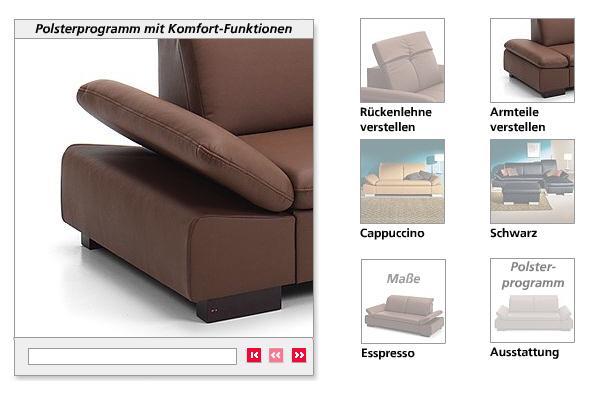 Wie funktioniert das Sofa? animierte Funktionsansichten auf neckermann.de