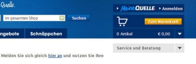 "Abbildung: Drop-Down Menü \""Service und Beratung\"" am rechten Seitenrand (Stand: Juni 2009)"