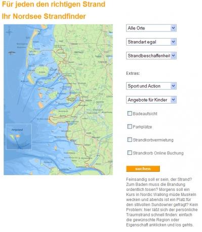 Strandfinder auf nordseetourismus.de