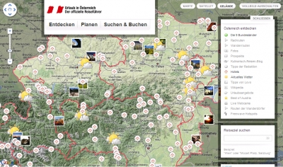 maximierte Karte austria.info