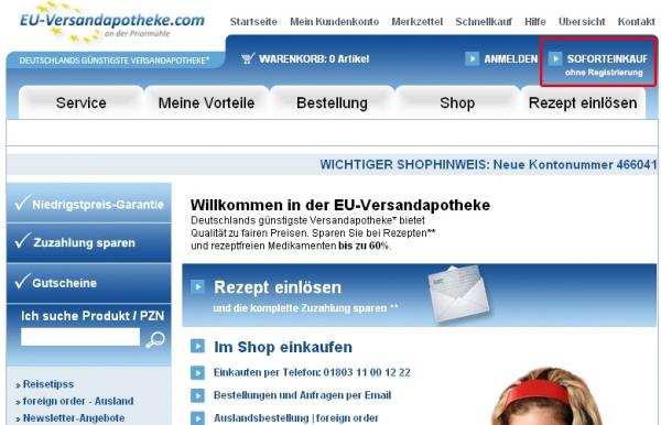 Startseite EU-Versandapotheke.com