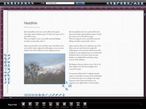 Abb. 05 :: Der Grafik- und Text-Editor des universellen Workspaces.