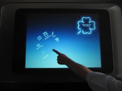 Abb.1: ApplicationLauncher - Die Hauptnavigation richtete sich am Finger aus