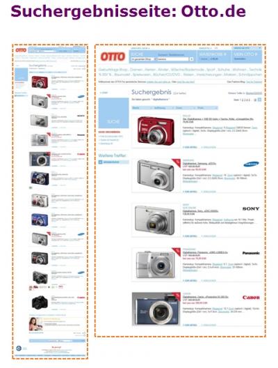 Suchergebnisseite zu Kamera auf Otto.de