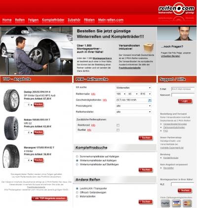 Homepage Reifen.com