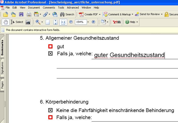 Editierbares PDF-Dokument
