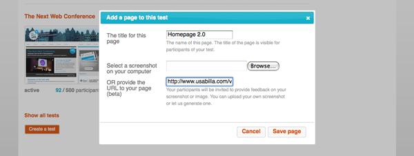 Getestet werden können Websites, Prototypen, Wireframes und andere Bilder.