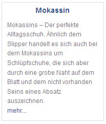 Definition Mokassin