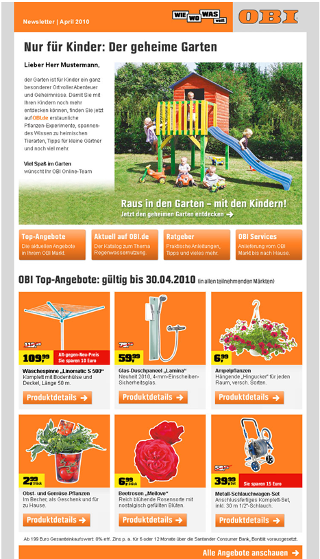 obi newsletter