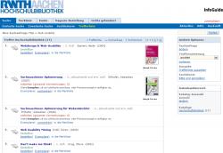 RWTH Aachen - Trefferliste