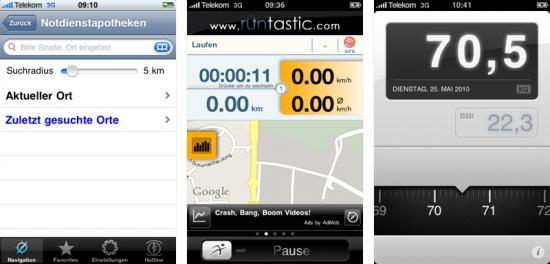 iPhone-Apps mit Schiebereglern