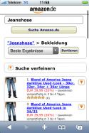 """Amazon: Funktion \""""Suche verfeinern\"""""""