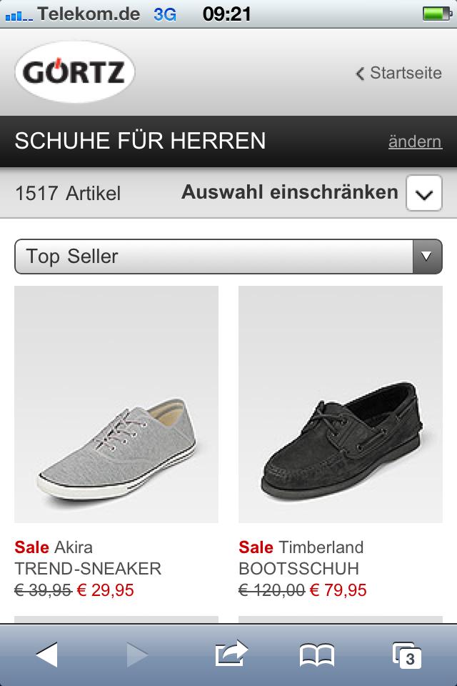 ec9b69155b69c7 Schuhe kaufen unterwegs  Der mobile Shop von Görtz im Usability ...