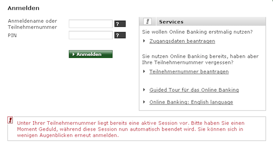 Commerzbankanmeldung