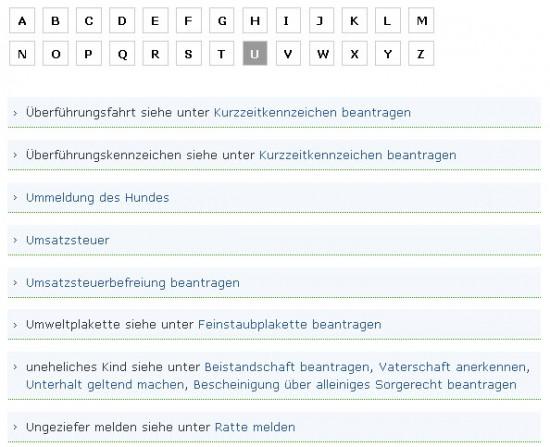 Bremen alphabetisch