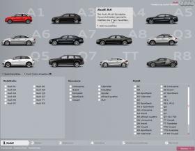 Audi Modellauswahl