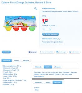 real-drive.de – Produktinformationen zu Nährwert, Zutaten und Allergenen.