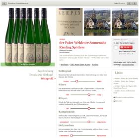 Detailseite: Weinprofil mit exakten Informationen zum Charakter (genussreich.de)