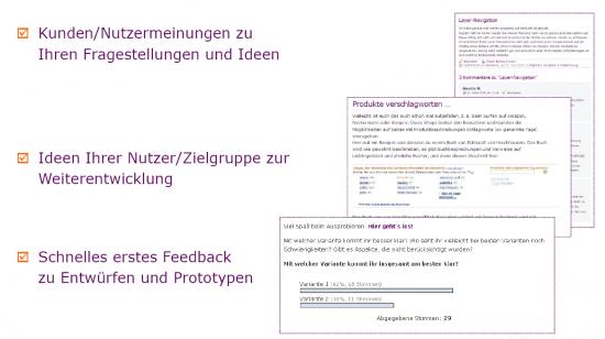 Die Ergebnisse von Kundenblogs