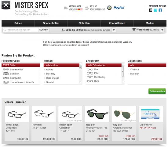 misterspex.de - Stöbern und Topseller