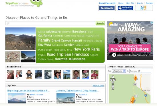 Startseite www.tripwiser.com
