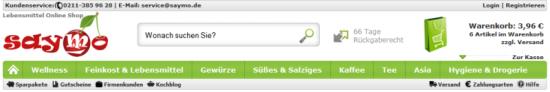 saymo.de: Header (März 2012)