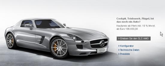 Einführung des Mercedes SLS AMG