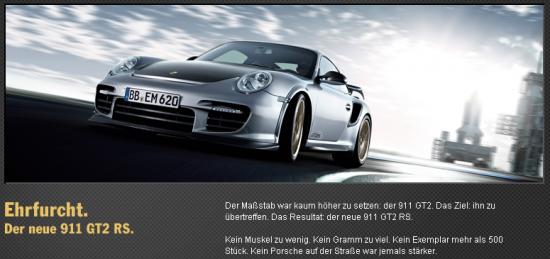 Einführung des Porsche 911 GT2 RS