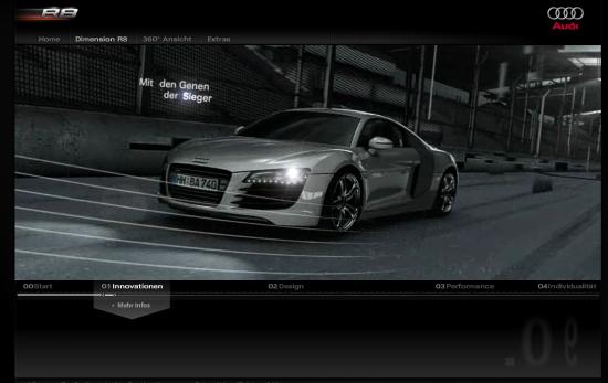 Innovatives Videokonzept bei der Vorstellung des Audi R8 GT