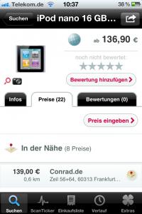 Barcoo App: Preisanzeige (in der Nähe und online)