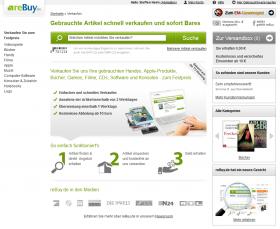 Abb.2: Einstiegsseite Verkaufen mit zentraler Suchfunktion, Vorteilsbox und Ablauferläuterung