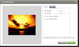 Photobox.de: Weitere Funktion im Layer