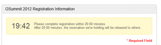 Timer in der Registrierung