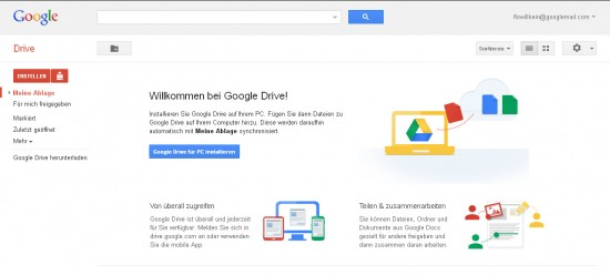 Start googlemail ohne Ordner