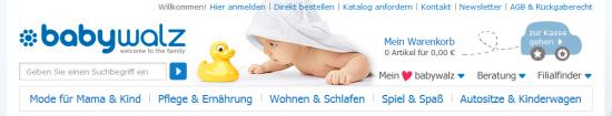 Header bei baby-walz.de