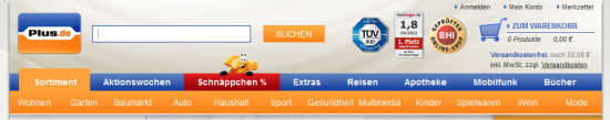 Header bei plus.de