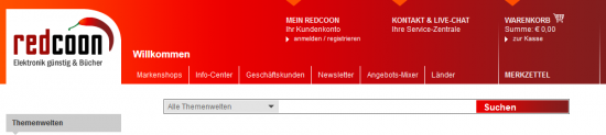 Header bei redcoon.de