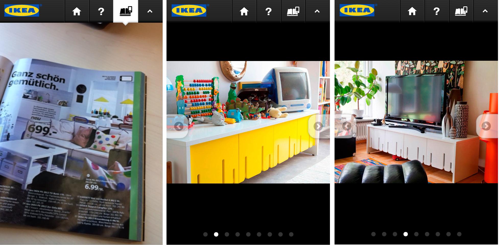 die neue ikea katalog app augmented reality im hausfrauen. Black Bedroom Furniture Sets. Home Design Ideas