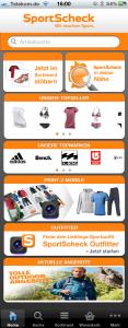 Startscreen SportScheck