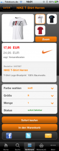 Produktdetailseite SportScheck