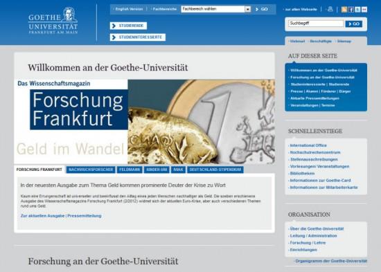 Uni Frankfurt Schnelleinstiege