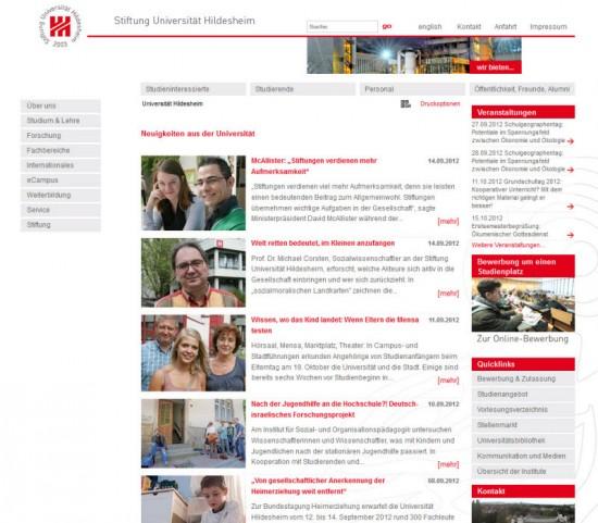 Uni Hildesheim Quicklinks